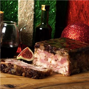 Ham, Turkey, Cranberry & Chestnut Terrine (500g)