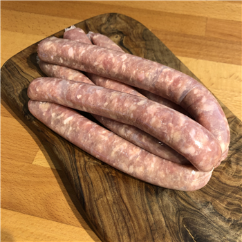 Apple & Chestnut, free-range chicken sausage